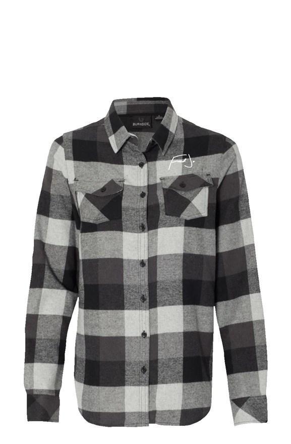 Fred Jo Womens Long Sleeve Grey Flannel - Fred jo Clothing