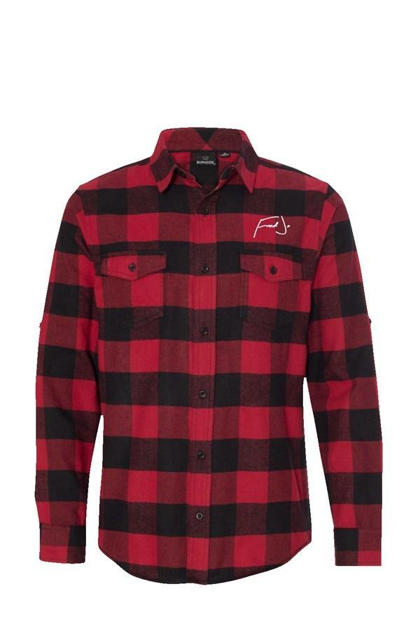 Fred Jo Long Sleeve Flannel Red And Black - Fred jo Clothing