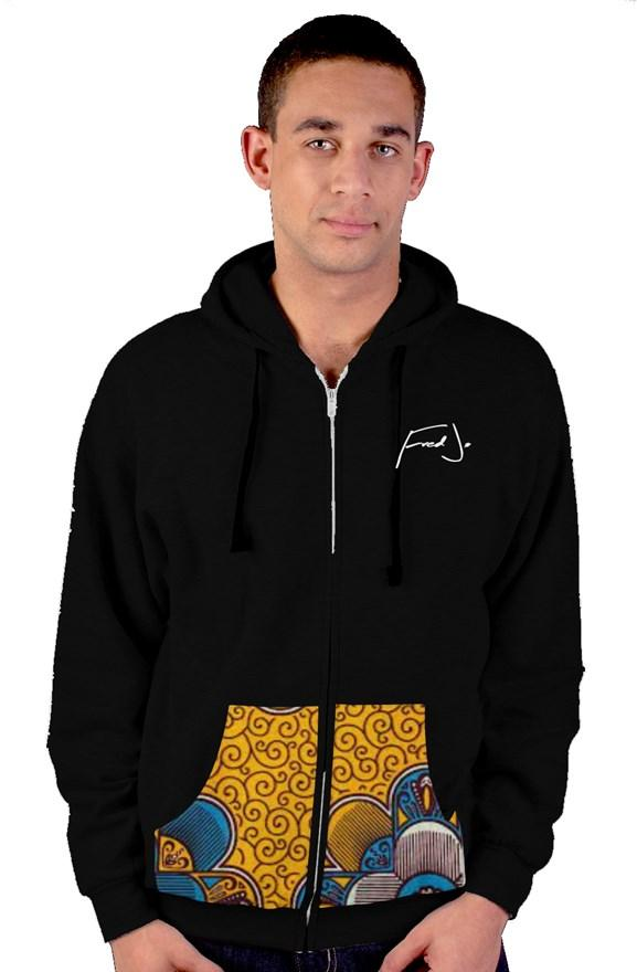 Fred Jo African zip up hoody - Fred jo Clothing