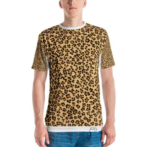 Fred Jo Leopard Men's T-shirt - Fred jo Clothing