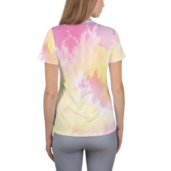 Fred Jo Watercolor Women's Athletic T-shirt - Fred jo Clothing