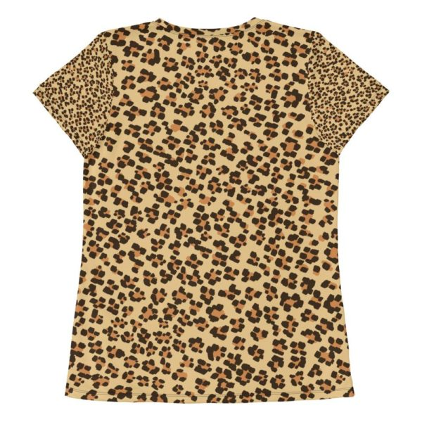 Fred Jo Leopard All-Over Print Women's Athletic T-shirt - Fred jo Clothing