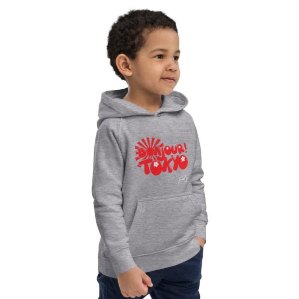 Bonjour Tokyo Kids eco hoodie by Fred Jo - Fred jo Clothing