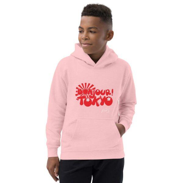 Bonjour Tokyo Kids Hoodie by Fred Jo - Fred jo Clothing