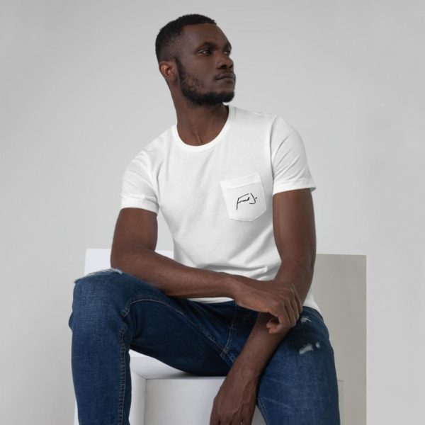 Fred Jo White Unisex Pocket T-Shirt - Fred jo Clothing