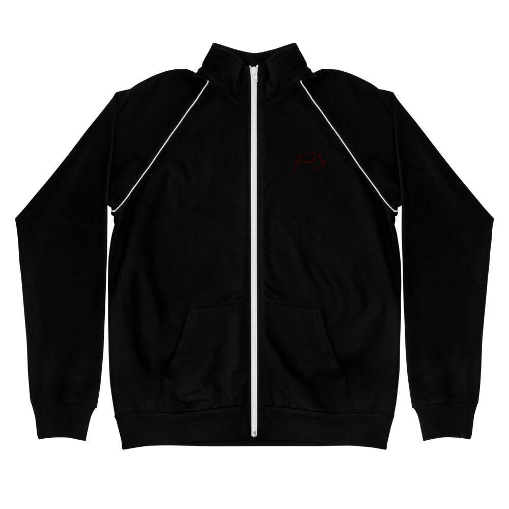 Fred Jo Piped Fleece Jacket Maroon - Fred jo Clothing