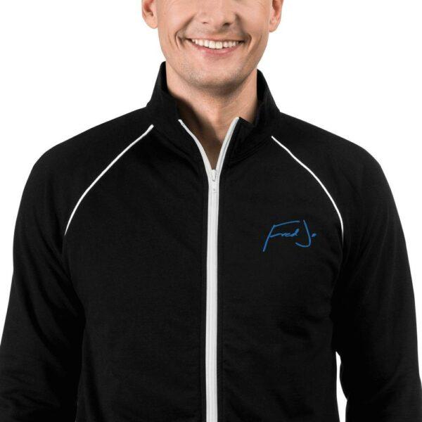 Fred jo Piped Fleece Jacket Blue - Fred jo Clothing