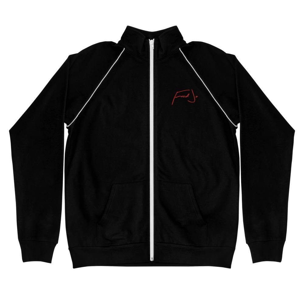 Fred Jo Piped Fleece Jacket Red - Fred jo Clothing