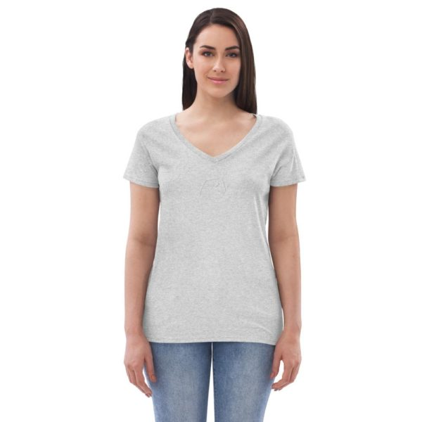 Fred Jo Women's recycled v-neck t-shirt - Fred jo Clothing