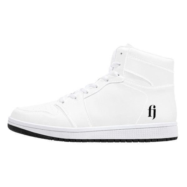 Fred Jo All white High-Top Leather Sneakers - Fred jo Clothing