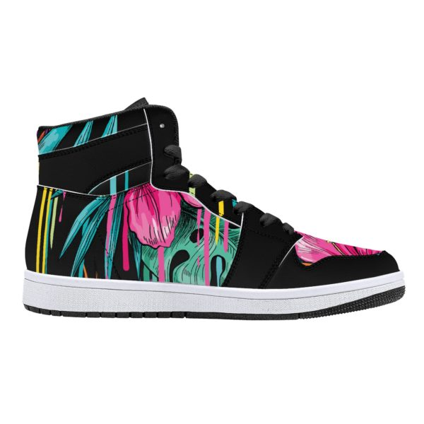Fred Jo Flowers High Top Sneakers - Fred jo Clothing