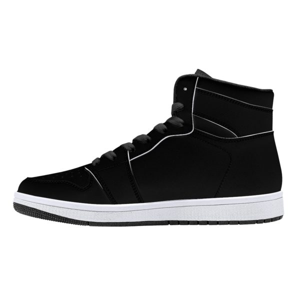 Fred Jo all black High-Top Leather Sneakers - Fred jo Clothing