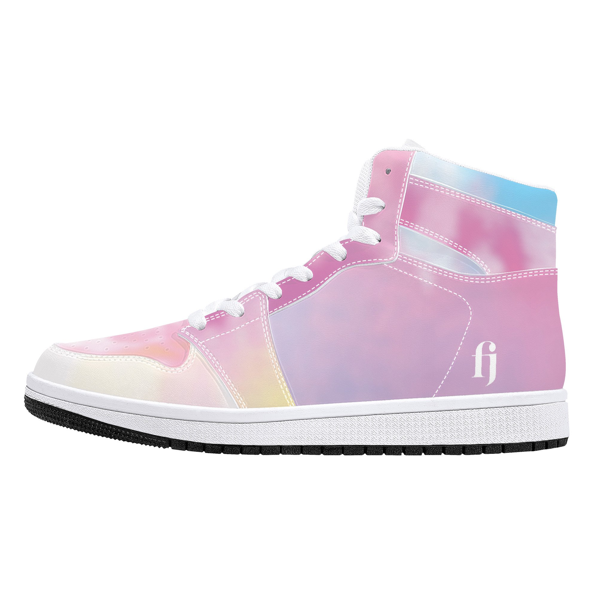 Fred Jo Watercolor High-Top Leather Sneakers - Fred jo Clothing