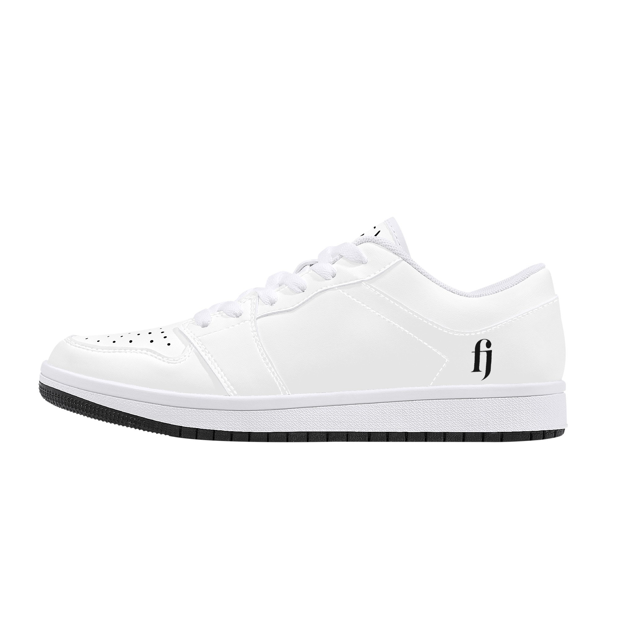 Fred Jo All White Low-Top Leather Sneakers - Fred jo Clothing