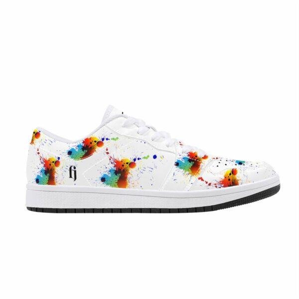 Fred Jo Low Leather Paint Splatter Sneakers - Fred jo Clothing