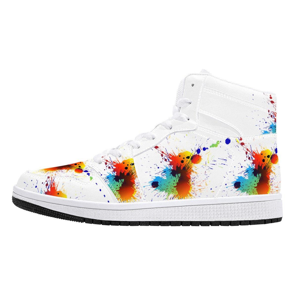 Fred Jo Leather Paint Splatter Sneakers - Fred jo Clothing