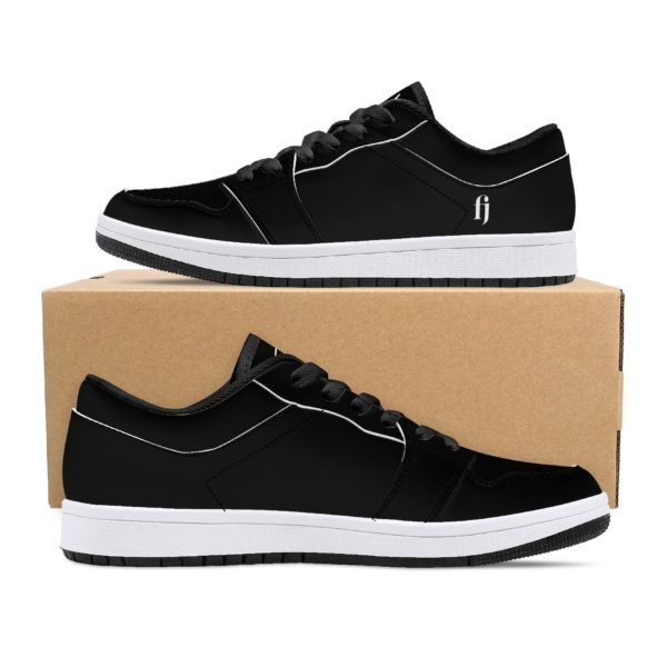 Fred Jo All Black Low-Top Leather Sneakers - Fred jo Clothing